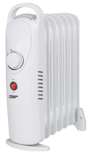Homebasix CYPB-7 Mini Oil Filled Radiator Electric Heater, 700 W
