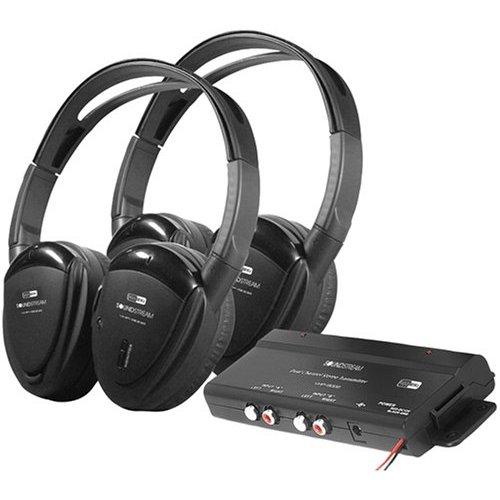 Power Acoustik - HEADPHONES *Pair* SWIVEL EARPAD 2CH.RF 900MHZ W/TRANSMITTER