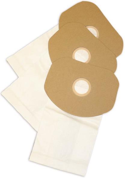 Powr-Flite C352-2500 2-Ply Vacuum Cleaner Bag, 6 qt Capacity, Paper