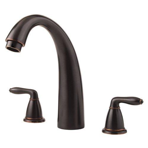 Serrano 3-Hole Roman Tub Faucet Trim Only, Tuscan Bronze