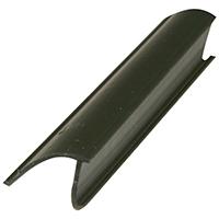 Prime Line P 7816 Snap-In Glass Retainer, 19/32 in W x 72 in L x 3/8 in H, Vinyl, Black