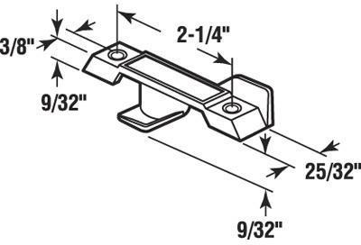 F2595 BL WINDOW SASH LOCK