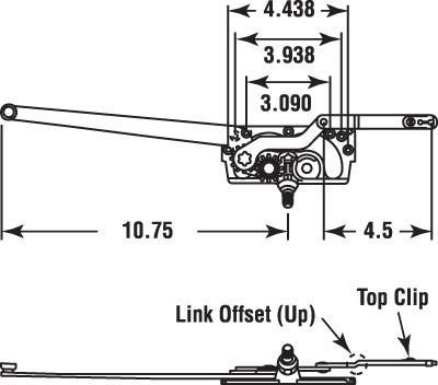 LEFT HAND CASEMENT ENTRYGARD DUAL ARM OPERATOR