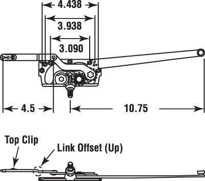 RIGHT HAND CASEMENT ENTRYGARD DUAL ARM OPERATOR