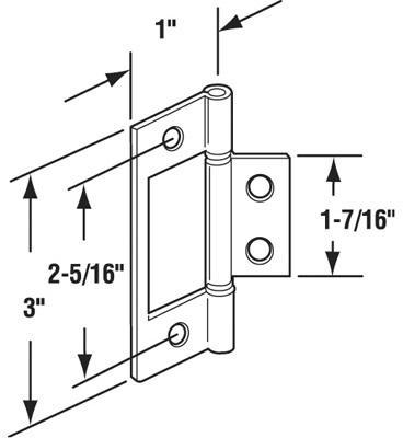 N6656 BIFLD DOOR HINGE-BRASS