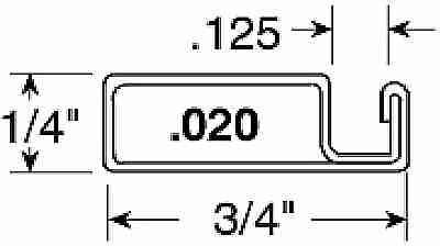 3/4X1/4X94 Screen Frame