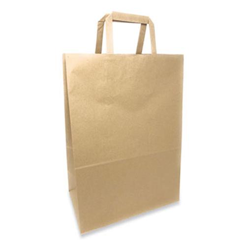Kraft Paper Bags, 1/6th BBL 12 x 7 x 17, Natural, 300/Bundle