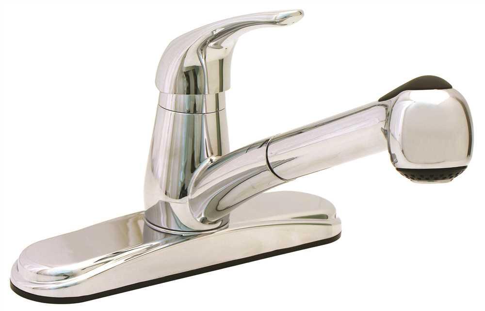 Proplus Pull Out Kitchen Faucet Non Metallic, Chrome