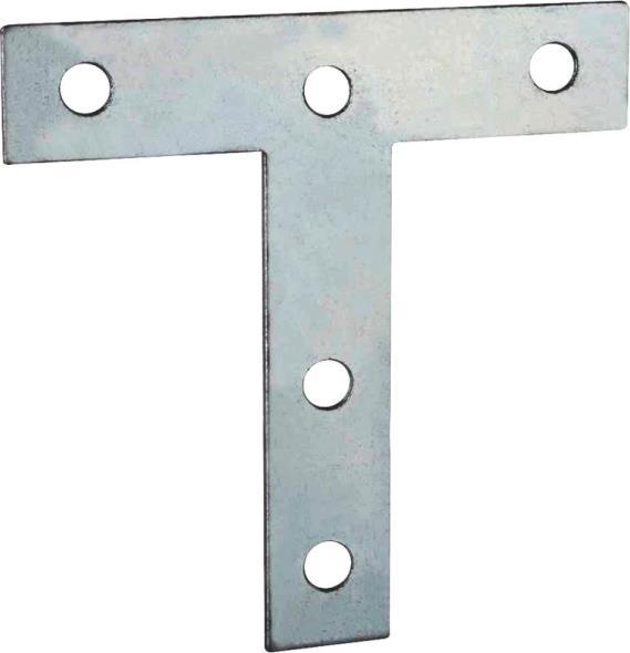 Mintcraft 22530ZCL3L T-Plate, 4 in L x 4 in W, Zinc Plated
