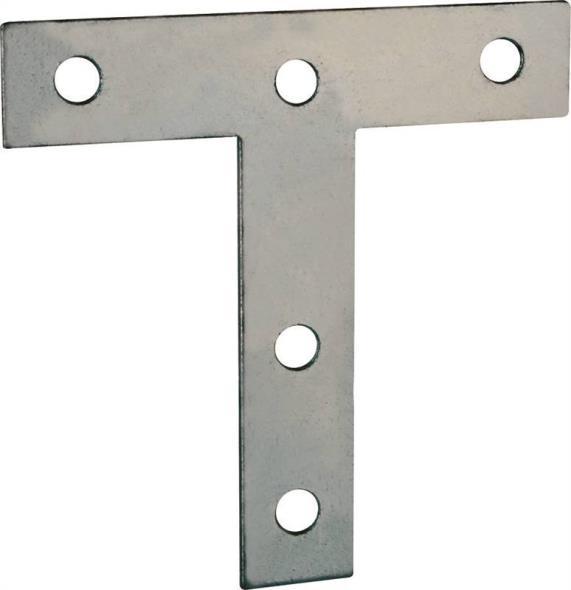 T-PLATE STEEL 3X3IN ZINC PLTD