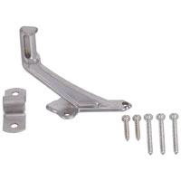 Mintcraft 61-Z086 Handrail Bracket, 2-15/16 in Base H, Die Cast Zinc, Satin Chrome