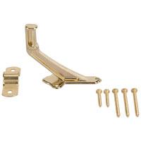 Mintcraft 61-Z080 Handrail Bracket, 2-15/16 in Base H, Die Cast Zinc, Bright Brass