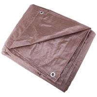 Mintcraft T1012BB90 Medium Duty Tarpaulin, 10 X 12 ft, Polyethylene, Brown
