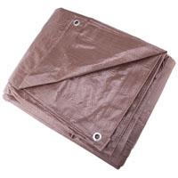 Mintcraft T1620BB90 Medium Duty Tarpaulin, 16 X 20 ft, Polyethylene, Brown