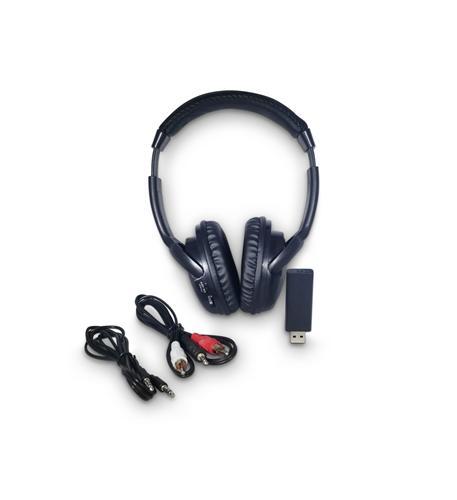 RF Wireless Headphones w FM scan/USB Tra