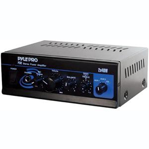 PYLE PRO PTA2 MINI STEREO POWER AMP (40W X 2)