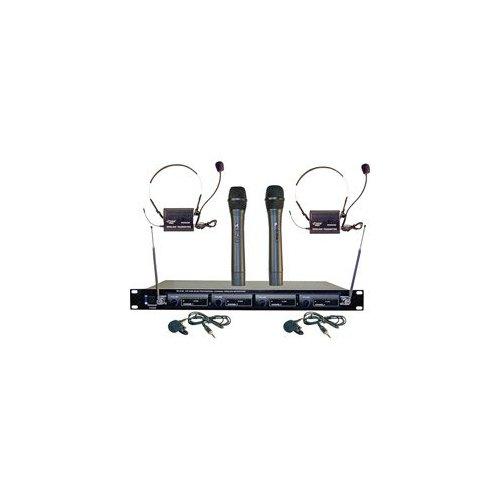 PYLE PRO PDWM4300 4-Microphone VHF Wireless Rack-Mount Microphone System