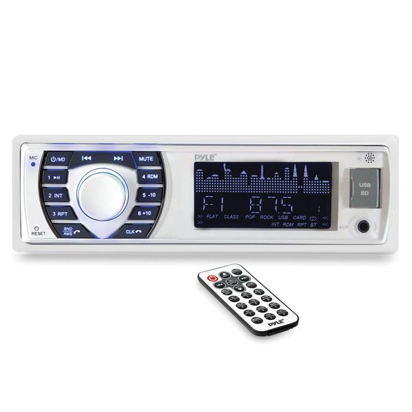 Pyle PLRMR23BTW PLRMR23BTW Marine Single-DIN Digital Receiver with Bluetooth and Remote