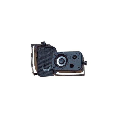 Pyle PDWR30B 3.5'' Indoor/Outdoor Waterproof Speakers (Black)