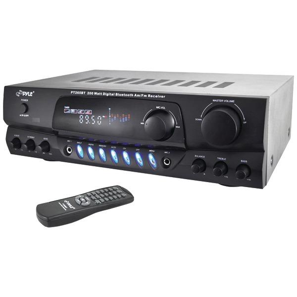 PYLE PT265BT RECEIVER AMPLIFIER BLUETOOTH 200 WATT AM FM