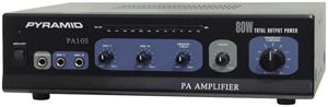 Pyramid Car Audio PA105 Amp with Microphone Input (80 Watt)