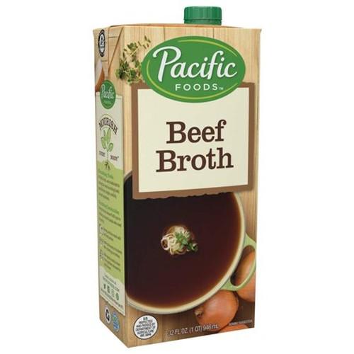 Pacific Natural Natural Beef Broth (12x32 Oz)