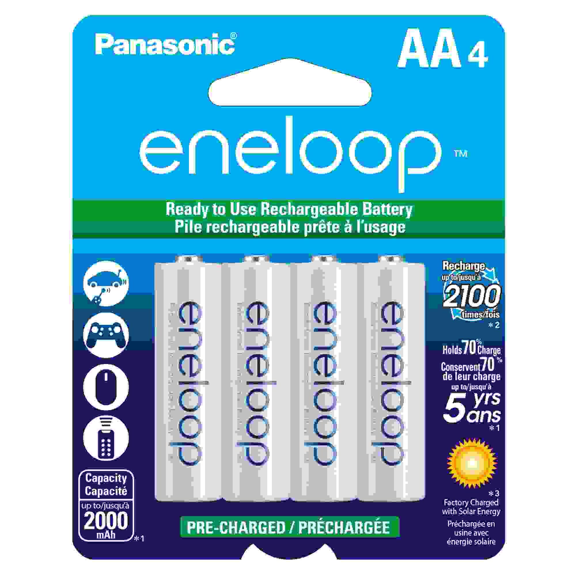 PANASONIC ENELOOP AA 4-PK 2000MAH 2100X