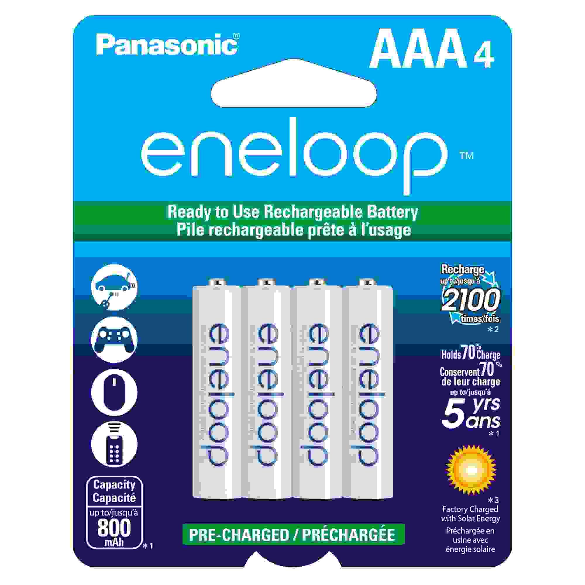 PANASONIC ENELOOP AAA 4-PK 800MAH 2100X