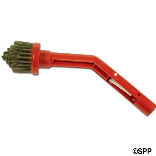 Corner Brush with Stainless Bristles-Multipurpose Handle