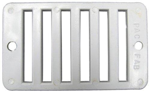 """Grate, Deck Drain, Rectangular, Pentair, 2"""" x 4"""", White"""