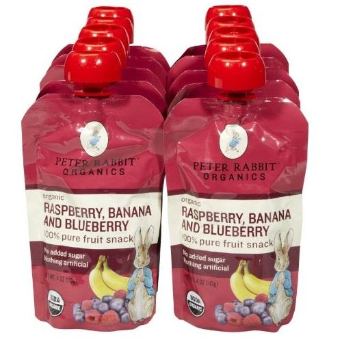 Peter Rabbit Organics RaspberryxBlueberryxBanana (10x4 OZ)