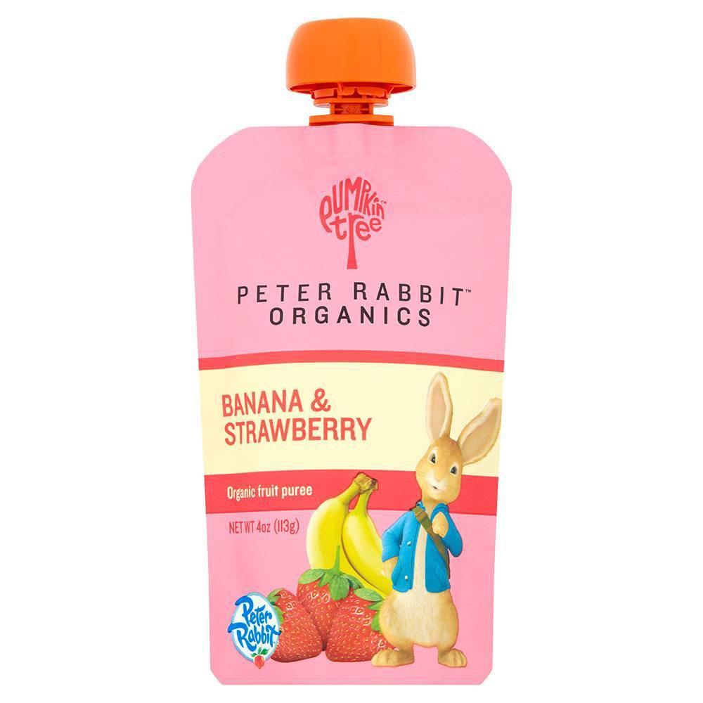 Peter Rabbit Organics Organic Fruit Snack 100‰ Pure Strawberry And Banana (10x4Oz)
