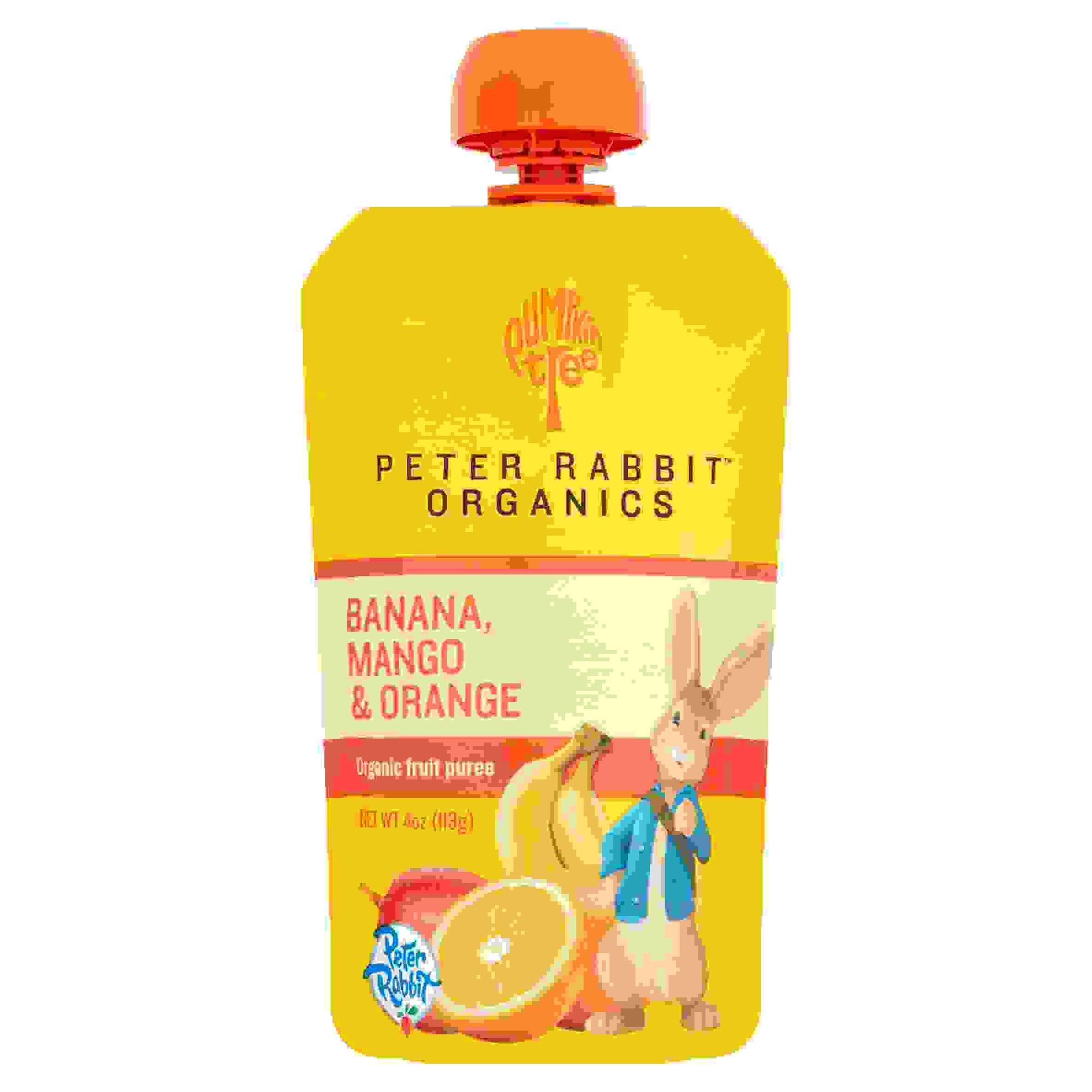 Peter Rabbit Organics Mango, Banana And Orange (10x4Oz)