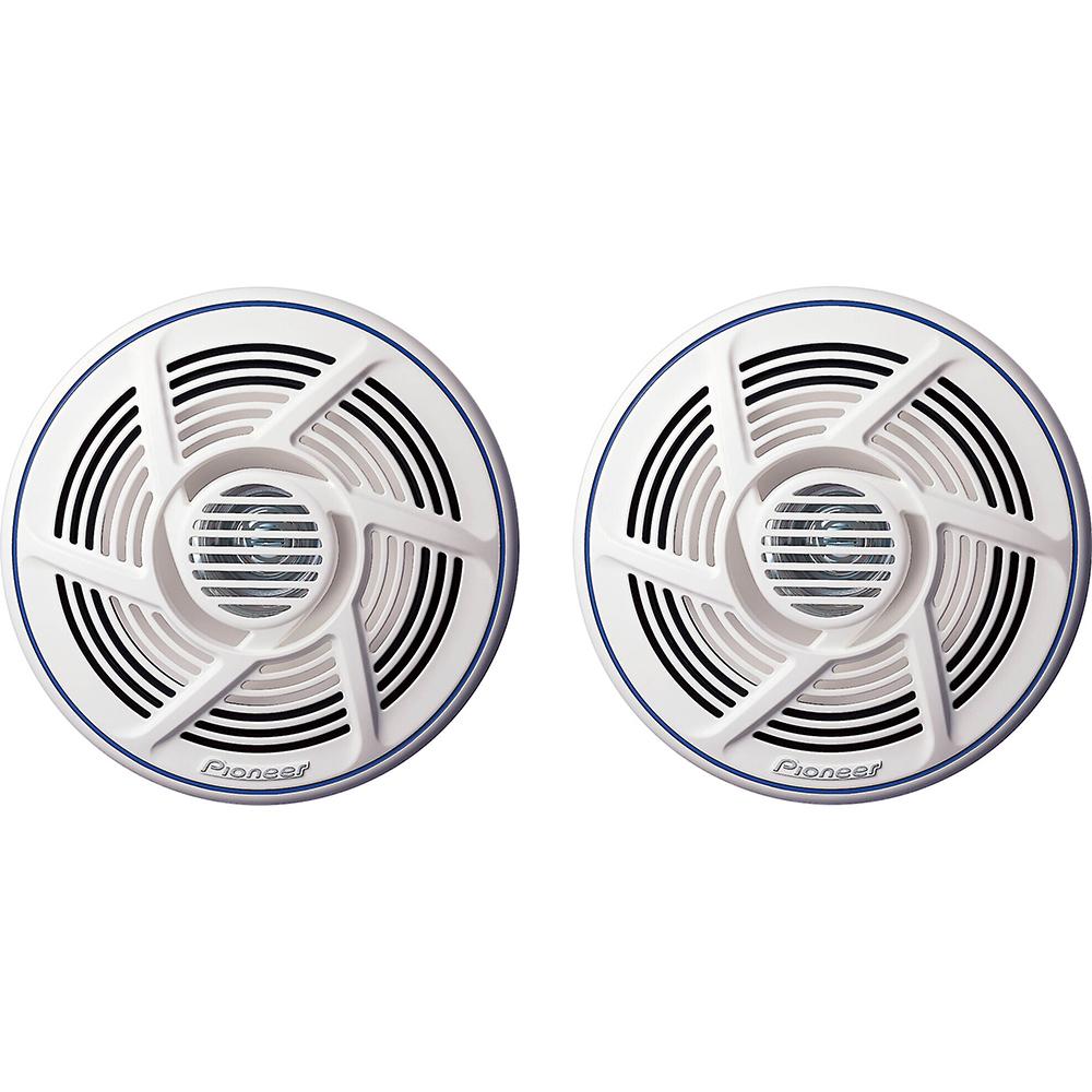 "Power Audio Nautica Marine Series 8"" 100 W Dual-Cone Speaker - White"