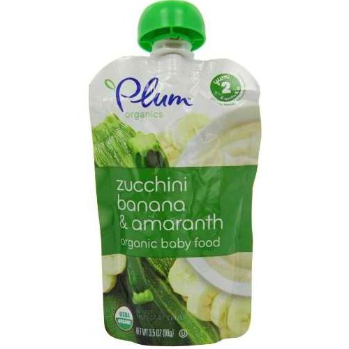 Plum Organics Zucchini Banana & Amaranth Yoghurt (6x35 Oz)