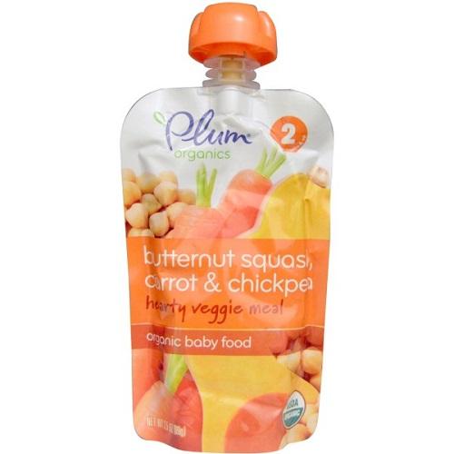 Plum Organics Stage 2, Butternut Squash Carrot & Chickpea (6X35 OZ)