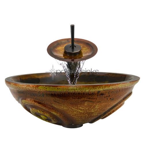 P016-ABR Bathroom Waterfall Faucet Ensemble