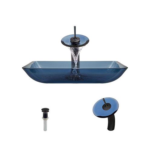 P046 Aqua-ABR Bathroom Waterfall Faucet Ensemble