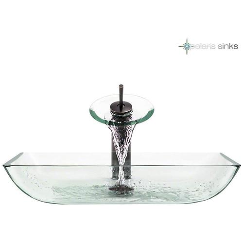 P046 Crystal-ABR Bathroom Waterfall Faucet Ens