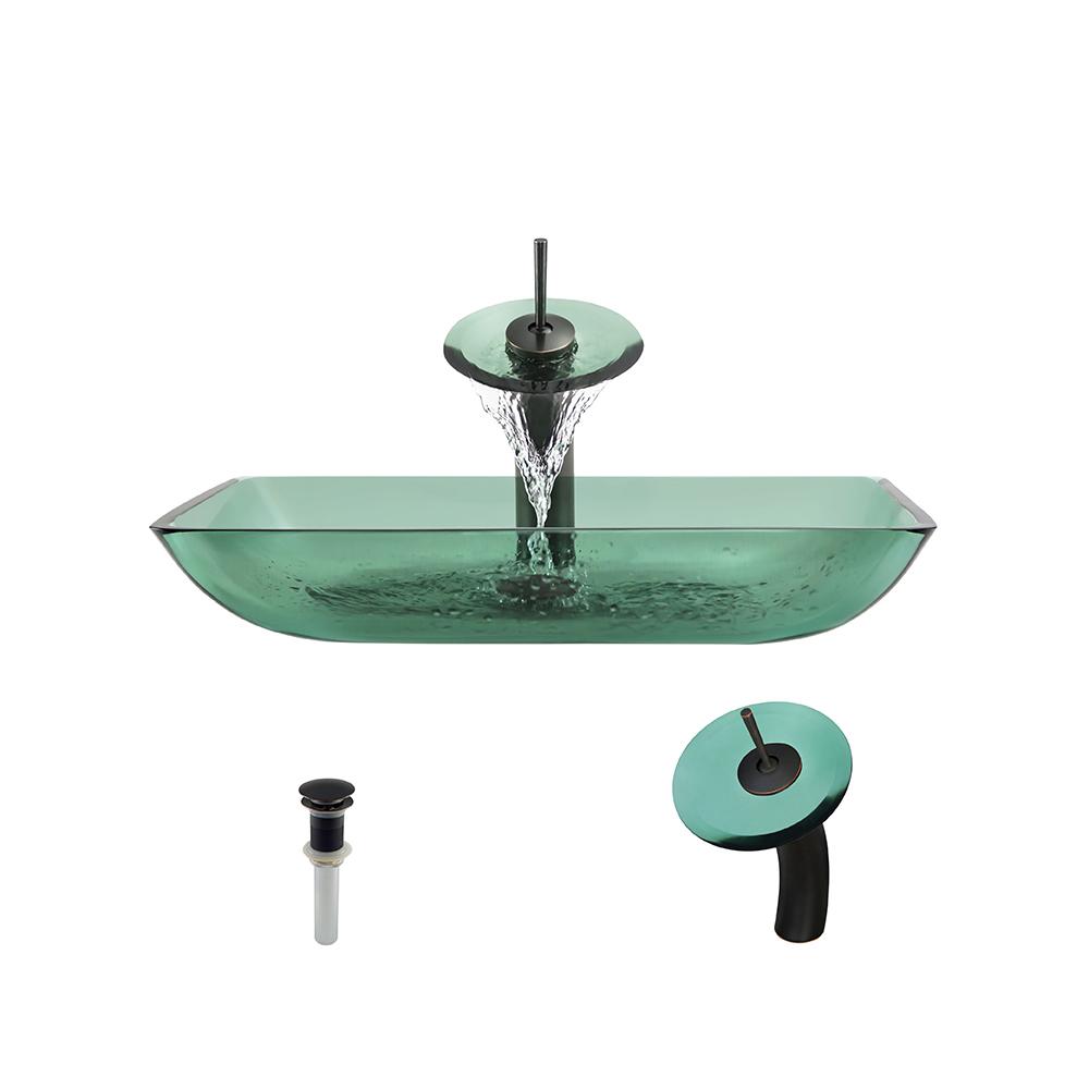 P046 Emerald-ABR Bathroom Waterfall Faucet Ens
