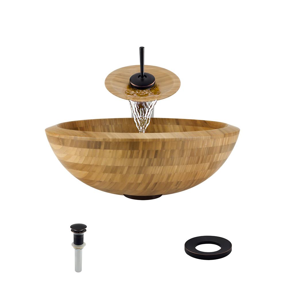 P098-ABR Bathroom Waterfall Faucet Ensemble