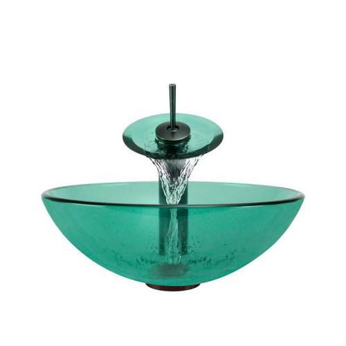 P106 Emerald-ABR Bathroom Waterfall Faucet Ensemble