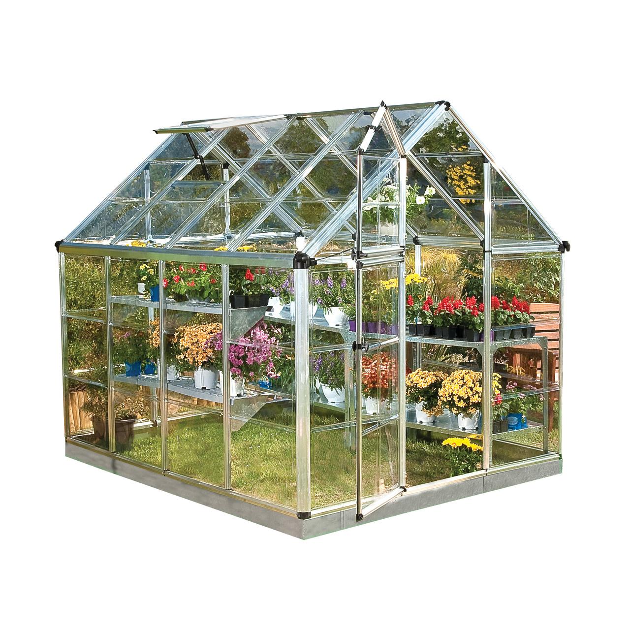 Palram Snap & Grow 6' X 8' Hobby Greenhouse, Silver