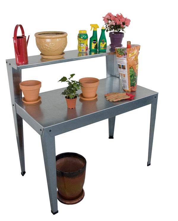 Palram - Canopia Galvanized Potting Bench