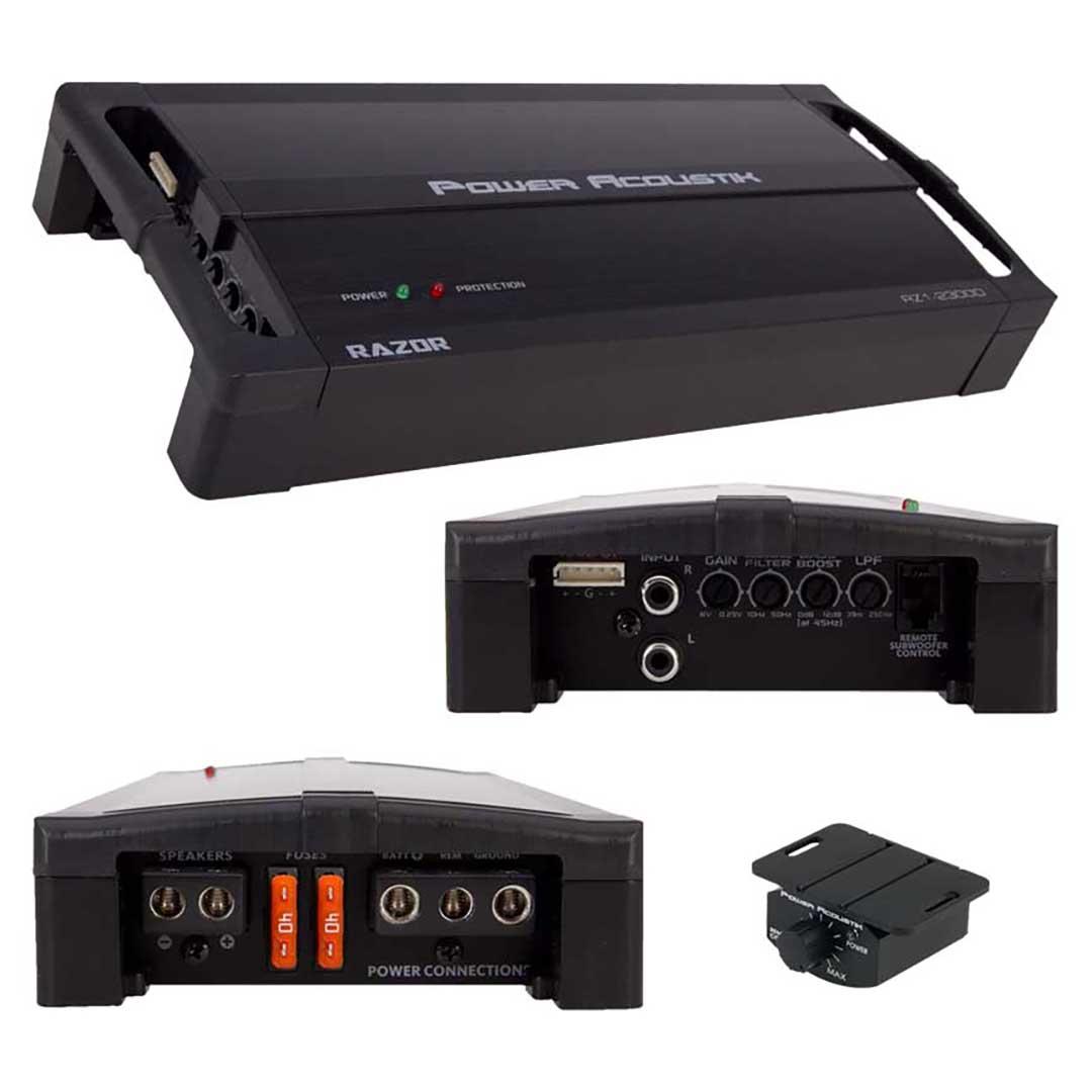 Power Acoustik Compact Monoblock Amplifier 2100W RMS/3500 Watts MAX