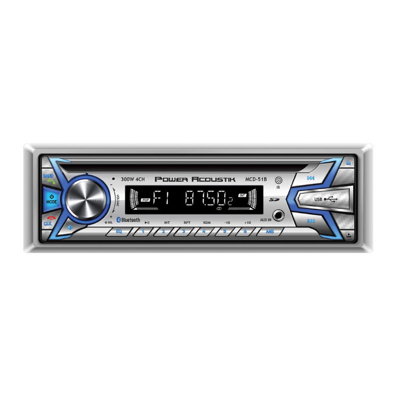 MCD51B - 1 DIN 300 WATT 4-CHANNEL MARINE GRADE AM/FM CD RECEIVER WITH 32GB SD & USB PLAYBACK, BLUETOOTH VERSION 2.0 & HANDS -FRE