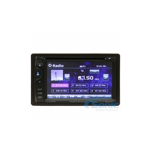 "POWER ACOUSTIK - PH620SXMB DOUBLE DIN IN-DASH DVD/CD/AM/FM/DIGITAL MEDIA BLUETOOTH CAR STEREO w/6.2"" LCD TOUCH SCREEN & SIRIUS X"