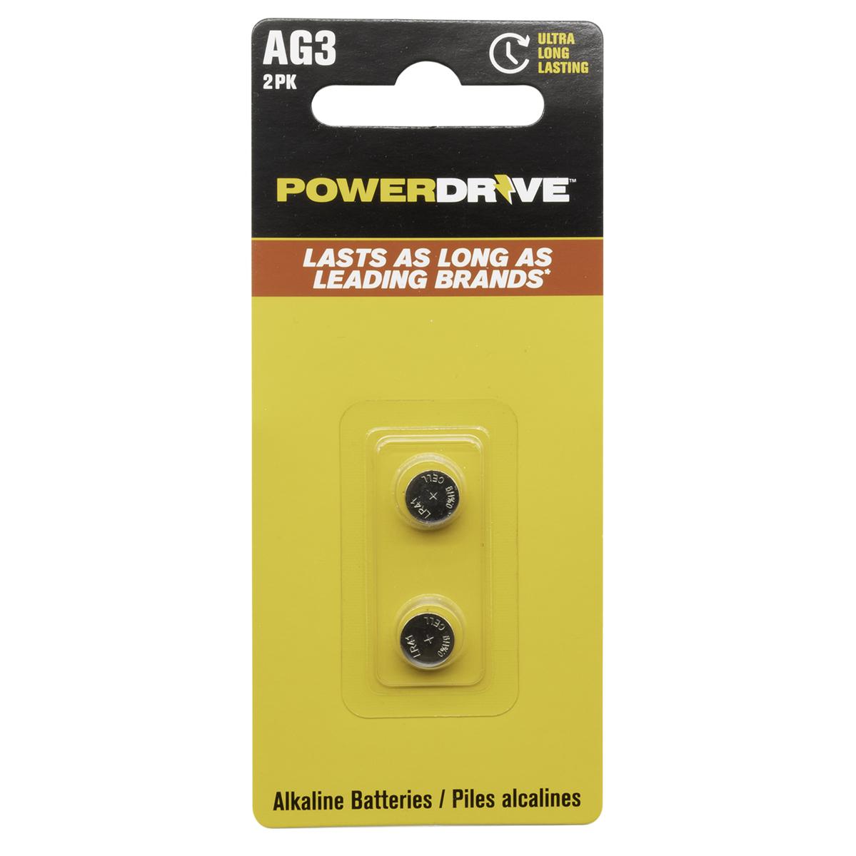 AG3 1.5V Alkaline Button Battery  2 Pack