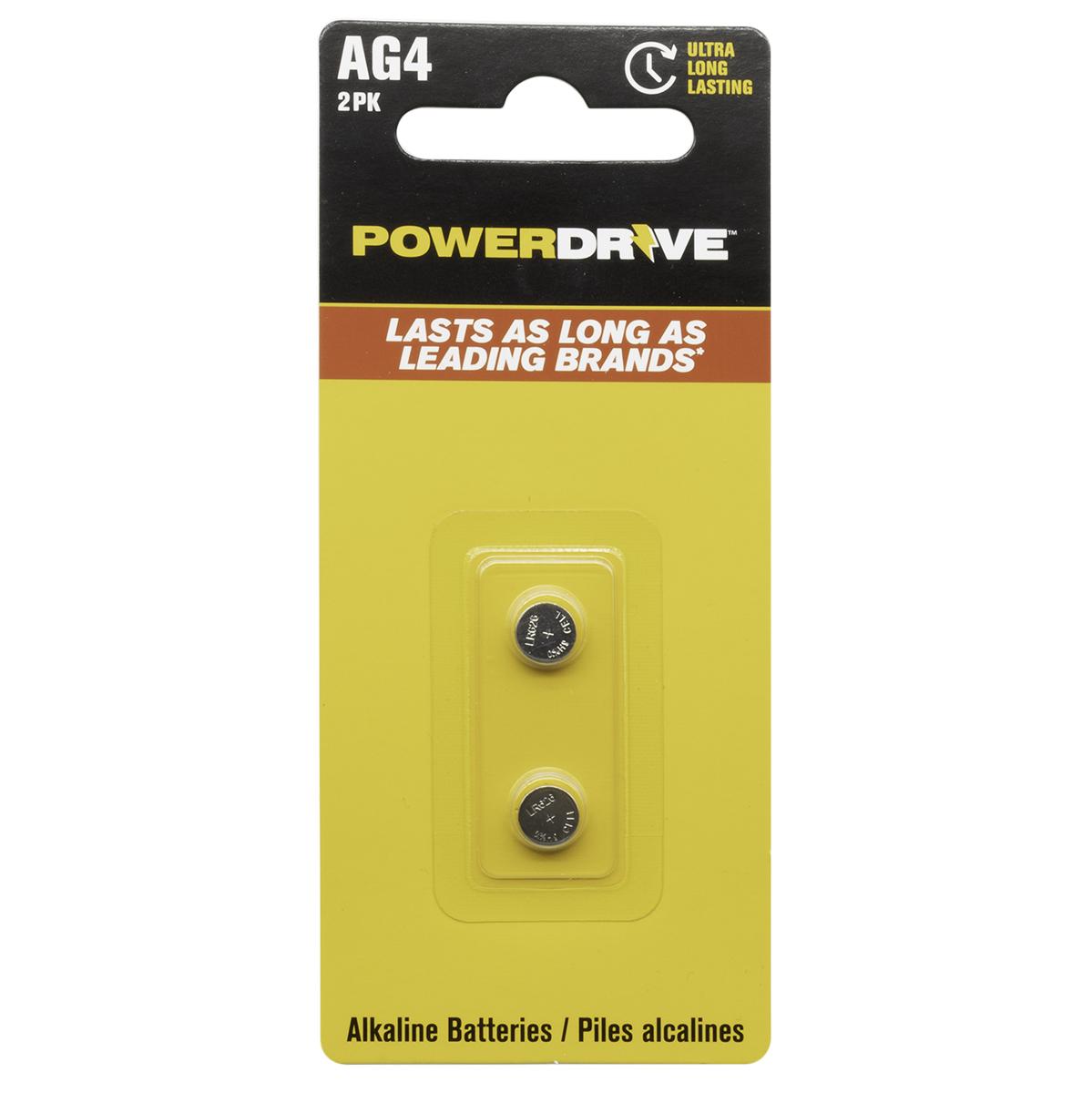 AG4 1.5V Alkaline Button Battery 2 Pack