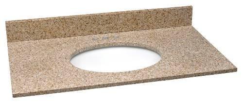 PREMIER� BATHROOM VANITY GRANITE TOP, GOLDEN SAND, 37 IN. X 22 IN.
